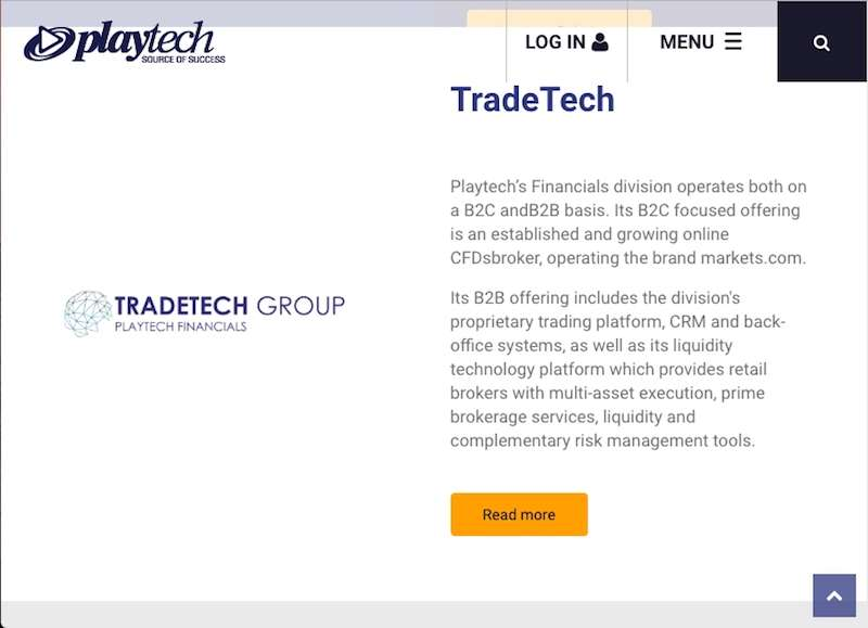 Playtech TechTrade Group