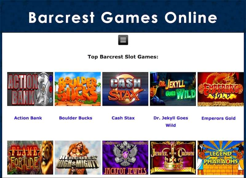 Barcrest Online Games