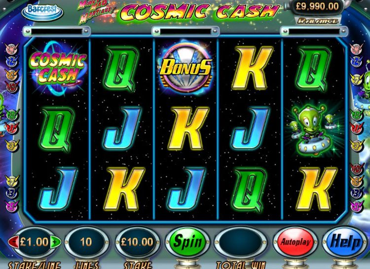 Money Mad Martians Slot - Play for Free or Real Money