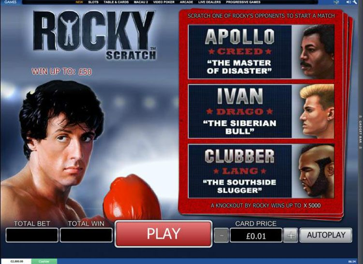 Play Rocky Scratch Cards at Casino.com