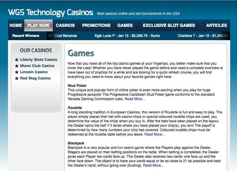 WGS Technology Games